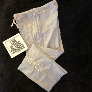 Urban Outfitters Abrazo Pants with embroidery NWT